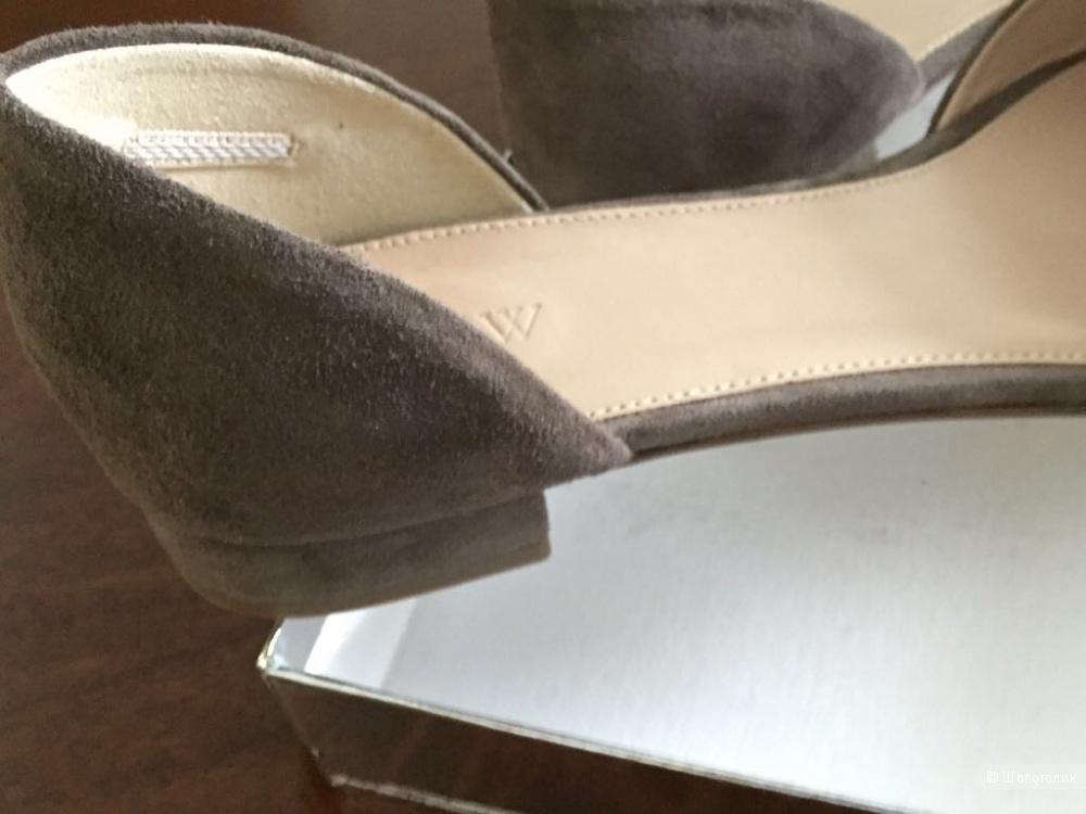 Классические туфли лодочки-балетки из JCrew, р 38