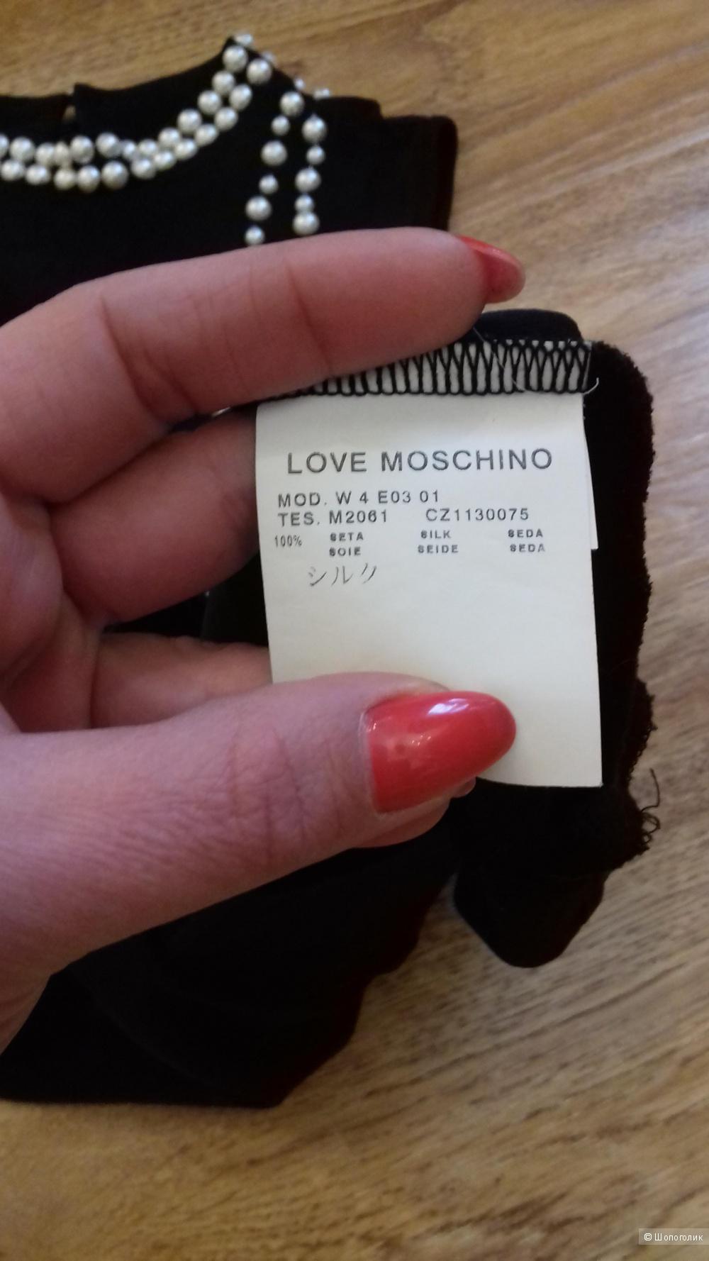 Шелковый топ LOVE MOSCHINO лимитированная коллекция, эксклюзив, 100%оригинал, 38IT