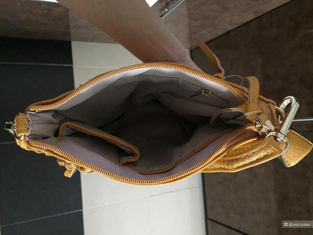 Кожаная сумка через плечо, новая