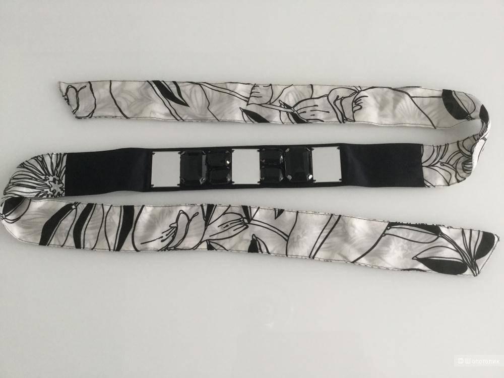 Шелковый ремень Guess by Marciano с каменьями