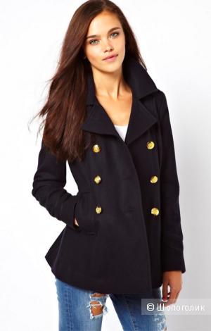 Новый двубортный пальто бушлат River island 8uk