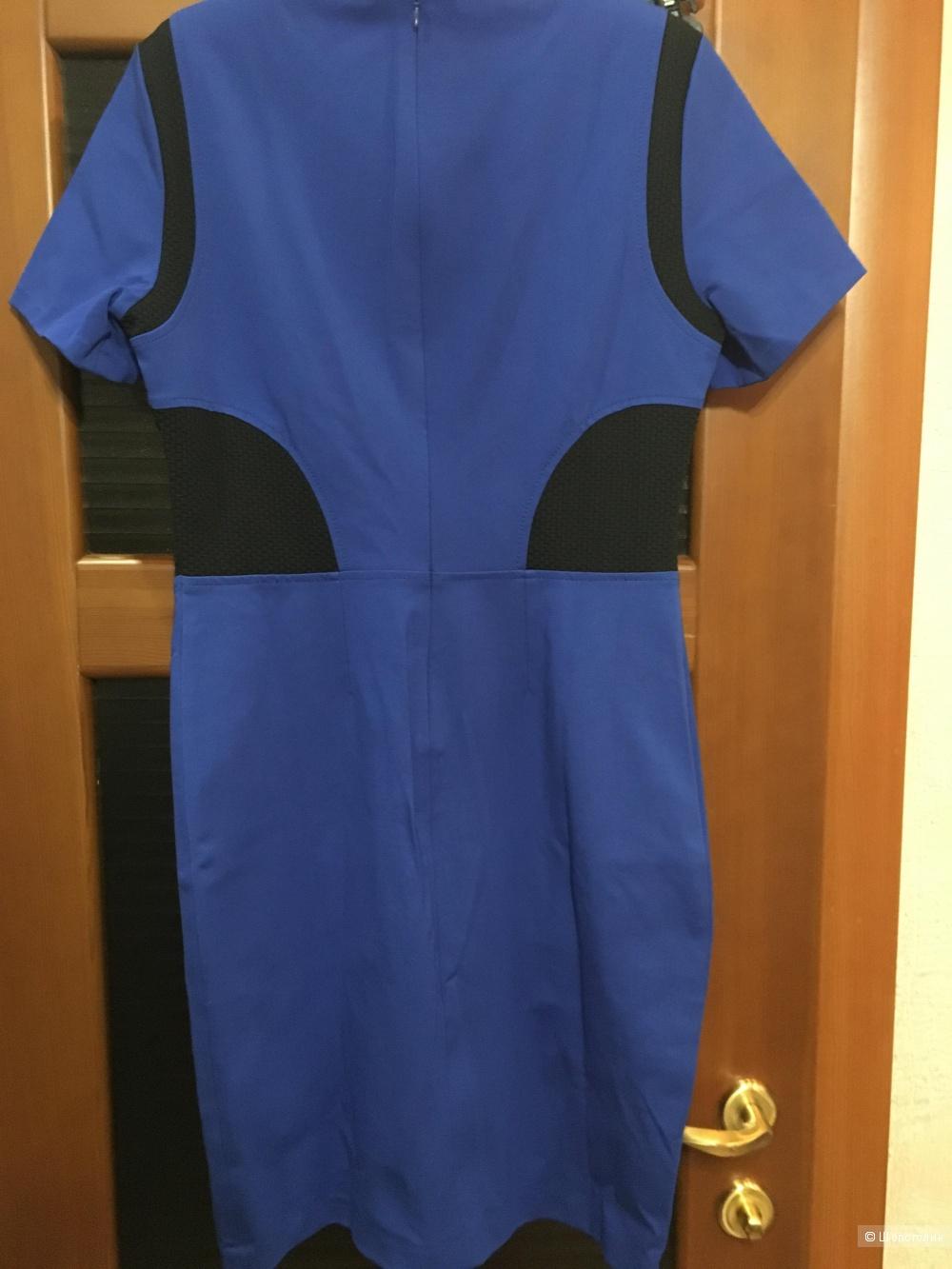 Ярко-синее платье-футляр STEFANEL, 48 (Российский размер) дизайнер:46 (IT).
