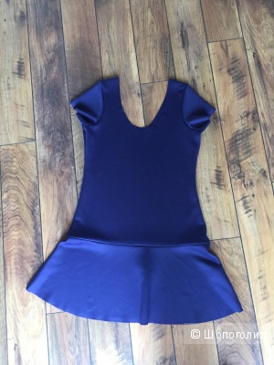 Новое синее платье M-L