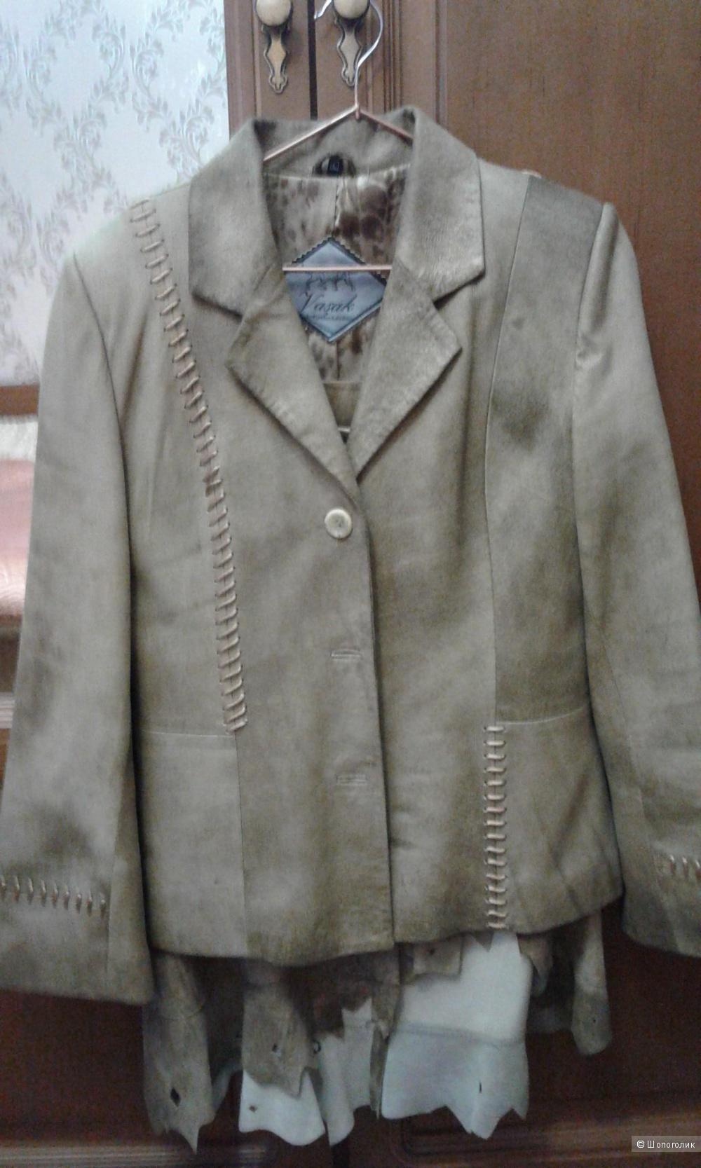 Пиджак кожанный оригинал Vasak БУ Оригинал, размер L