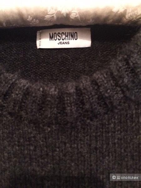 Мужской серый джемпер Moschino Jeans / L