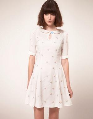 Кремовое платье Nishe (10 UK)