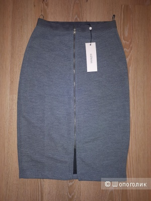 Юбка из тонкого серого трикотажа миди датского бренда Soaked In Luxury размер S