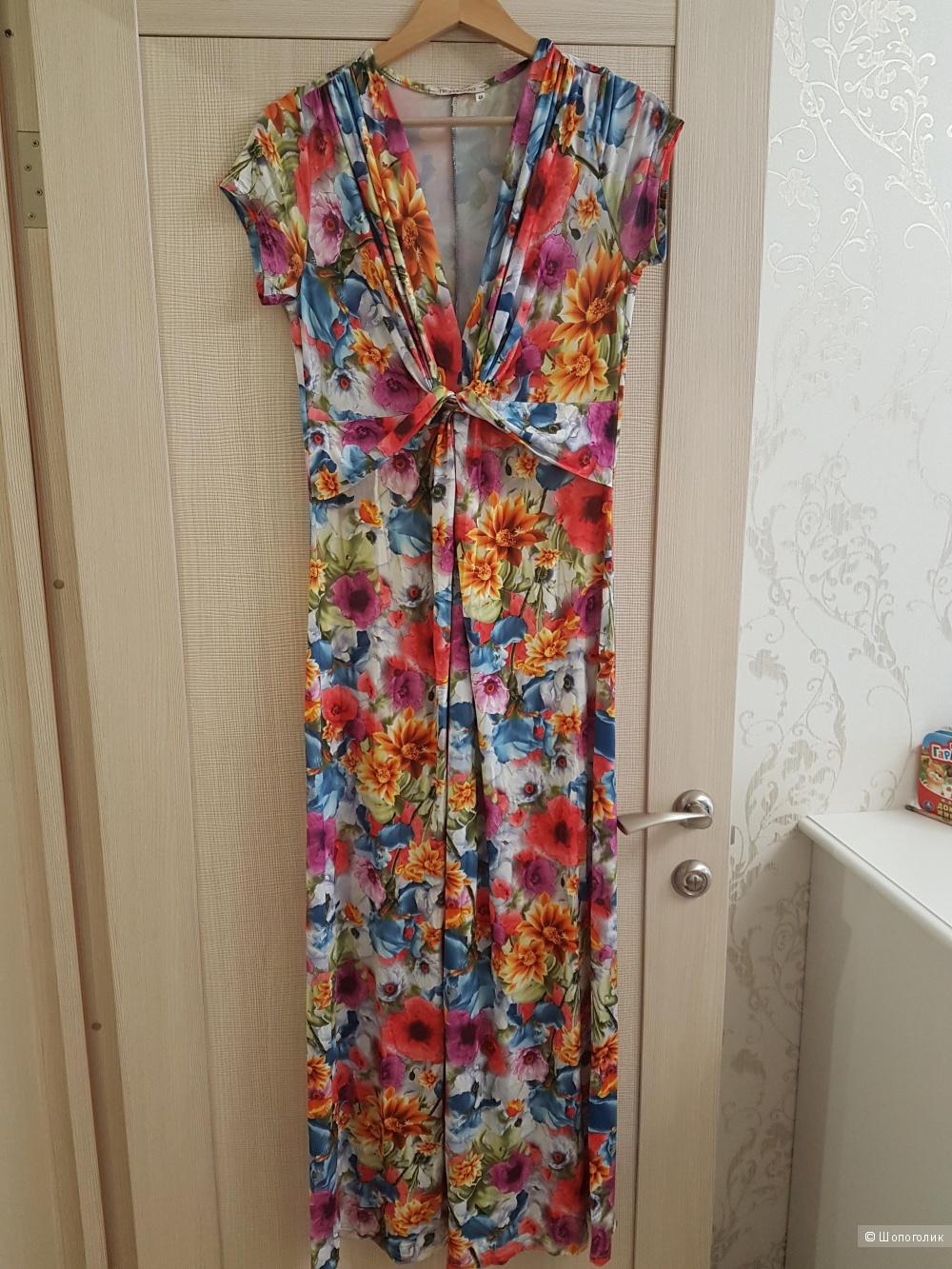 """Лёгкое длинное платье """"Незнакомка"""" 46 размер"""