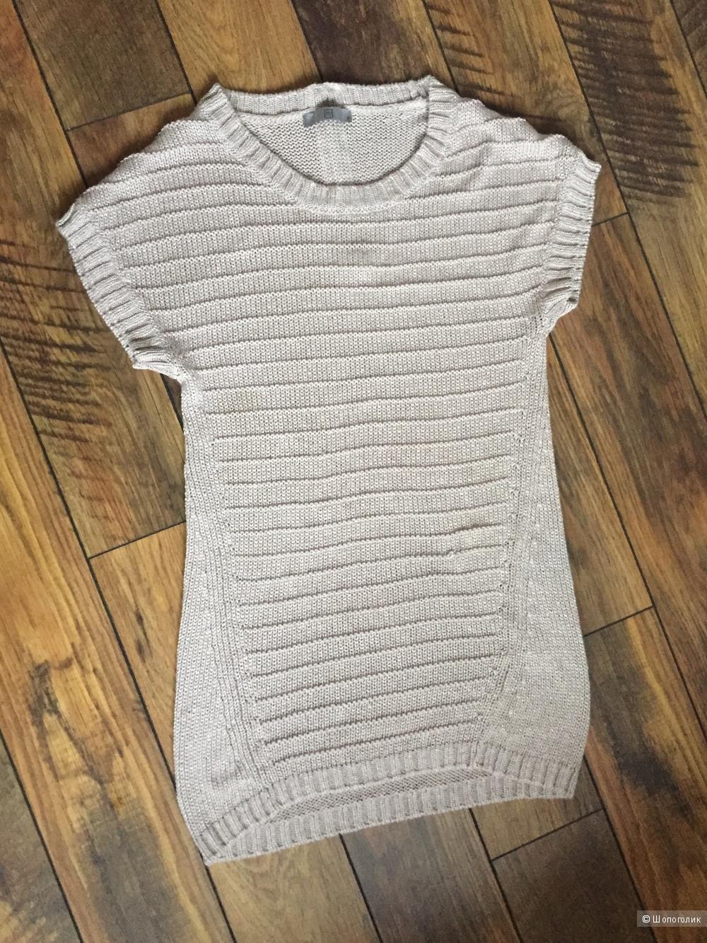 Вязаное платье-туника размер S
