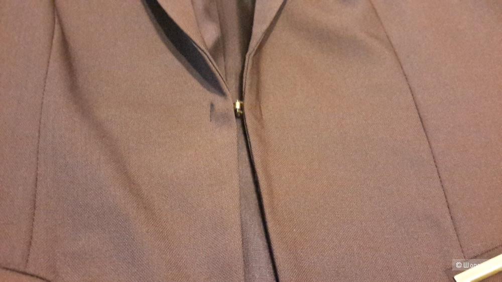 Женский пиджак темно-бордового цвета Charuel размер 50 на 48 скорее застежка на один крючок