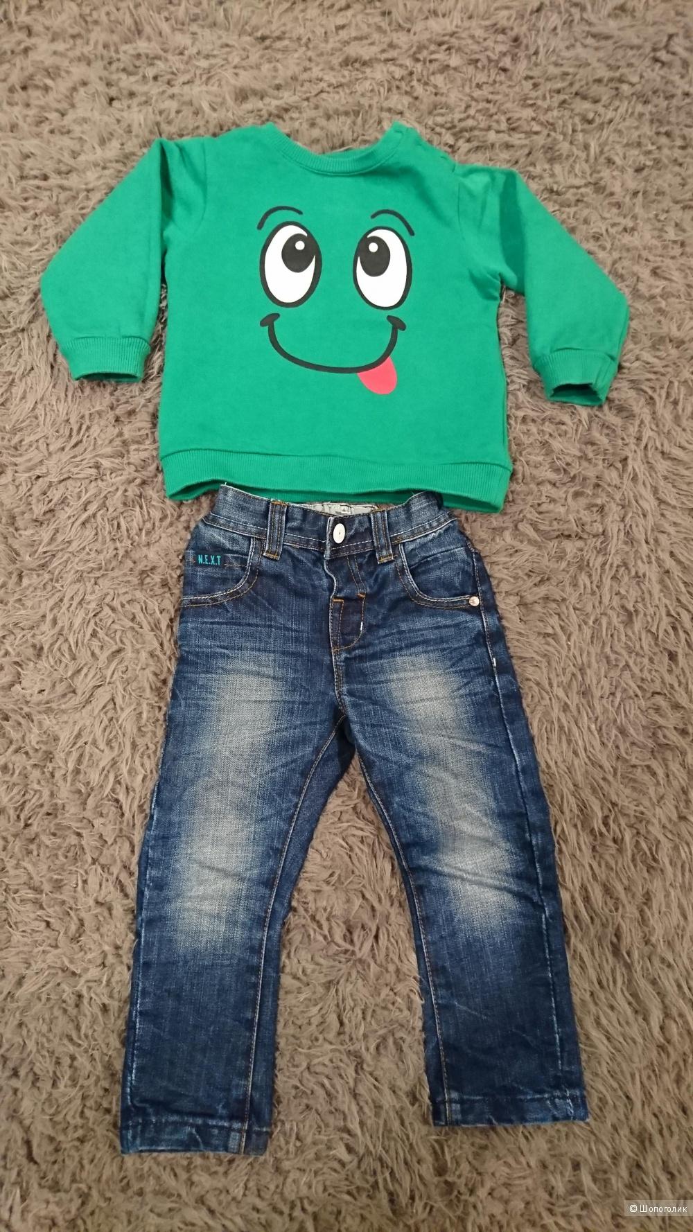 Комплект :джинсы и полукомбинезон, 92 размер