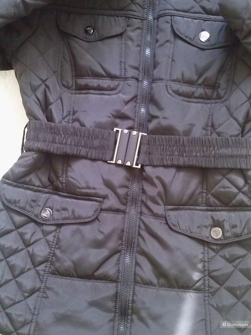 Куртка  демисезонная стеганая черная, 44- 46  M