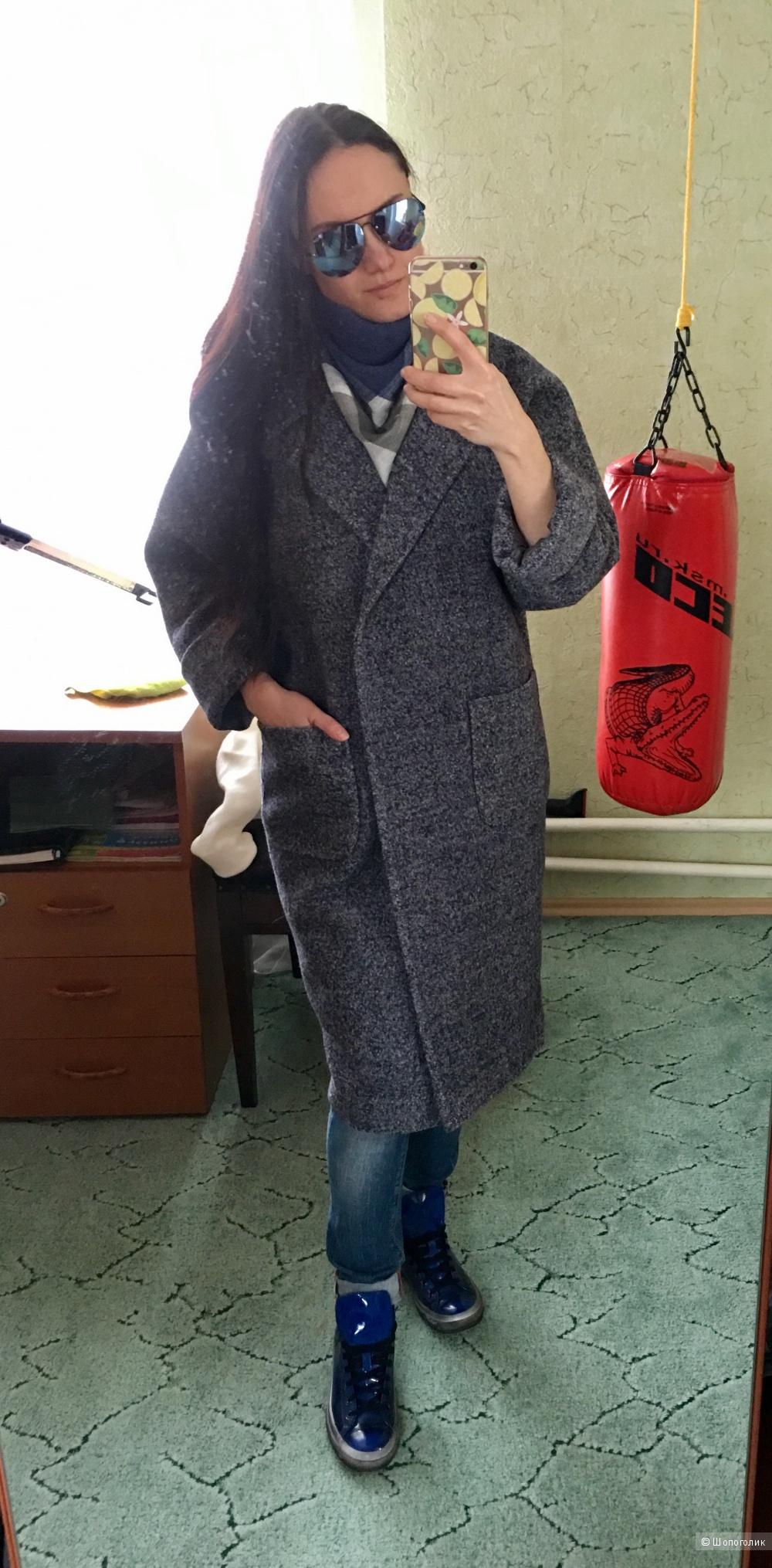 Пальто кокон халат
