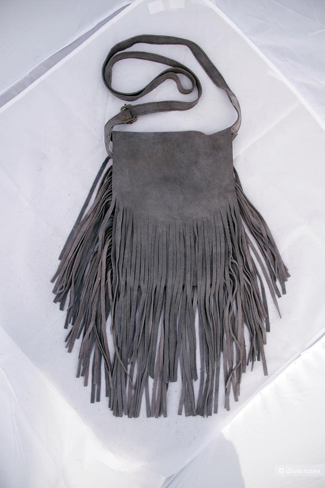 Новая сумка из замши с бахромой