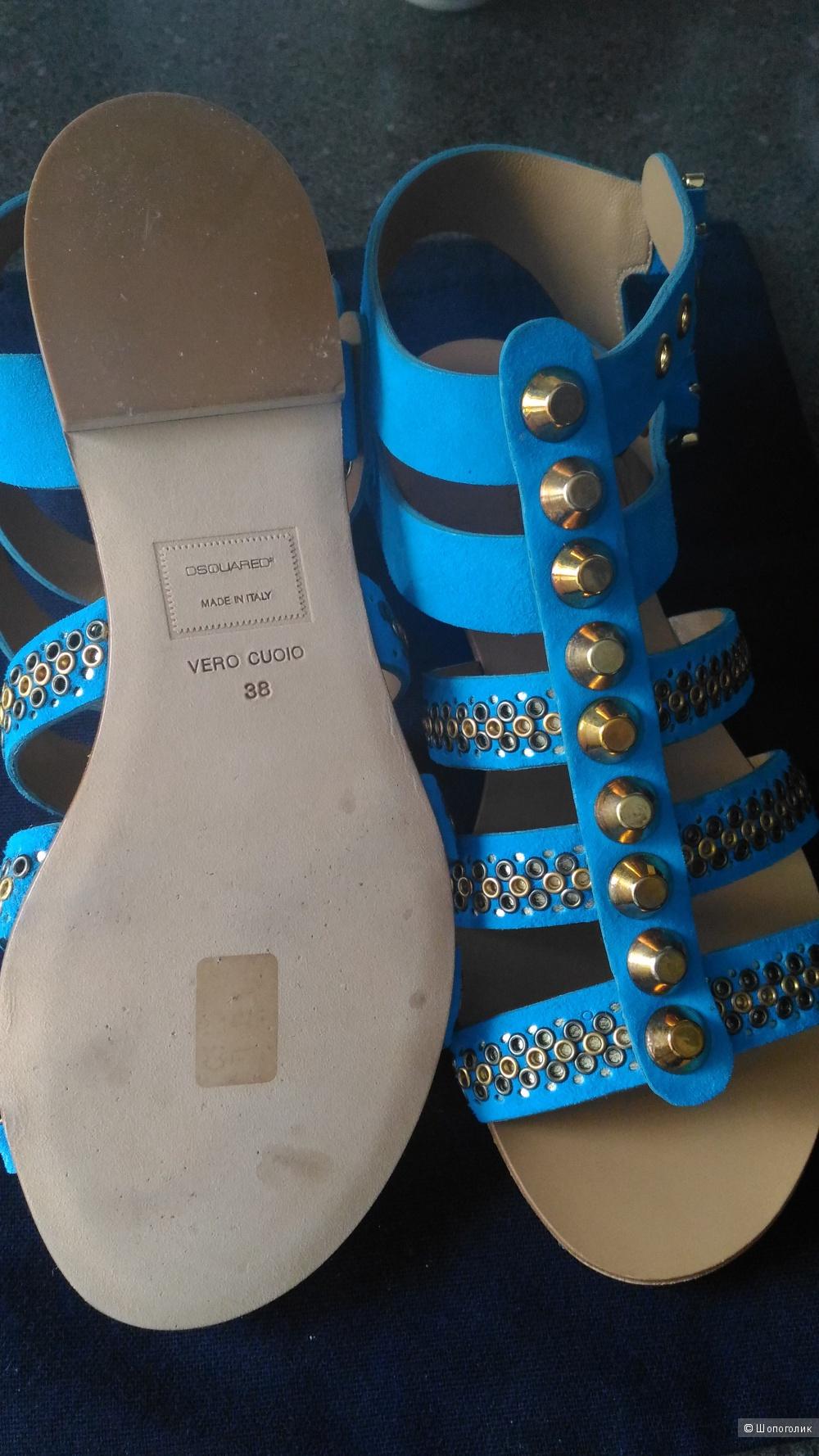 Новые сандалии Dsquared, оригинал, Италия, размер указан 38
