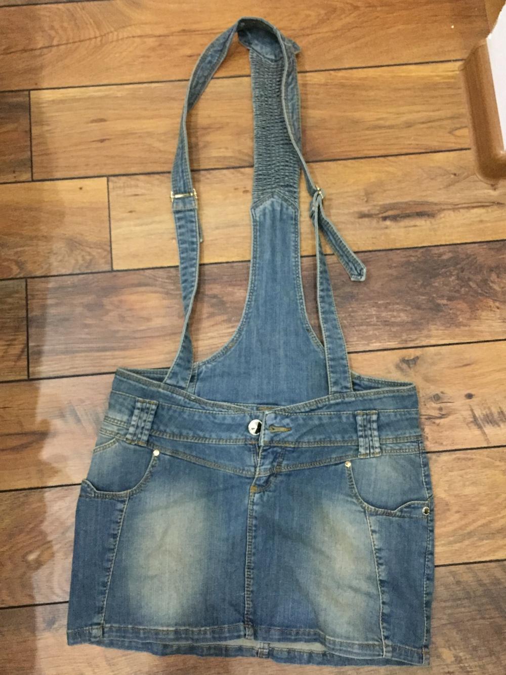 Джинсовая юбка/комбез 28 размер