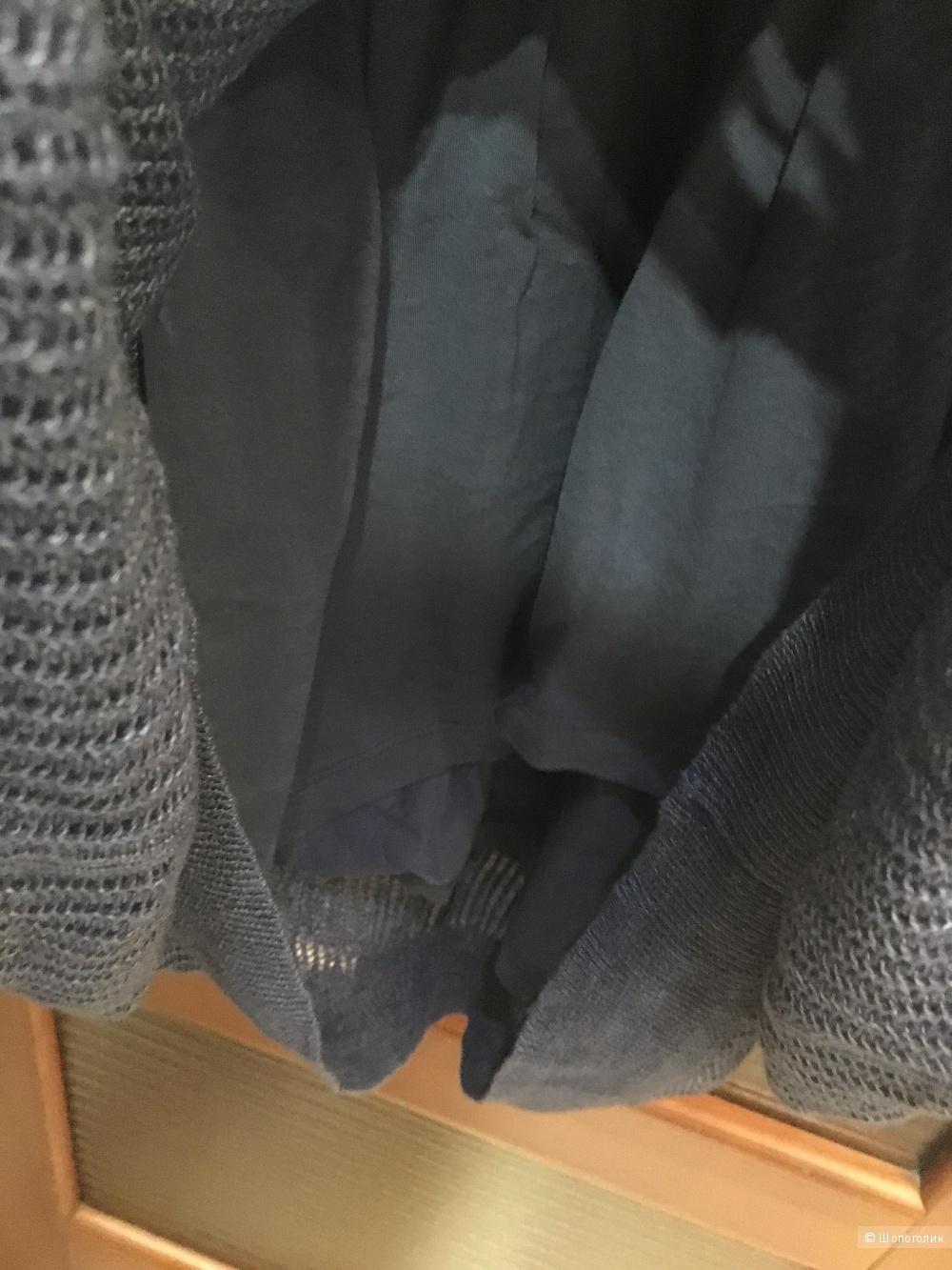 Летнее платье оверсайз STEFANEL, M (Международный Размер). Грифельно-синий