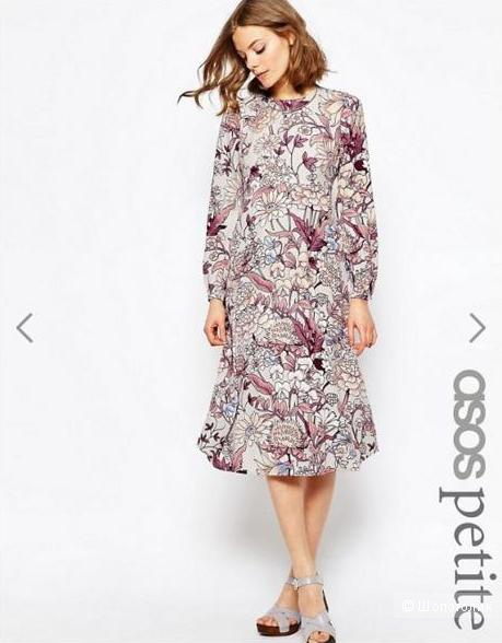 Платье миди с цветочным принтом ASOS PETITE