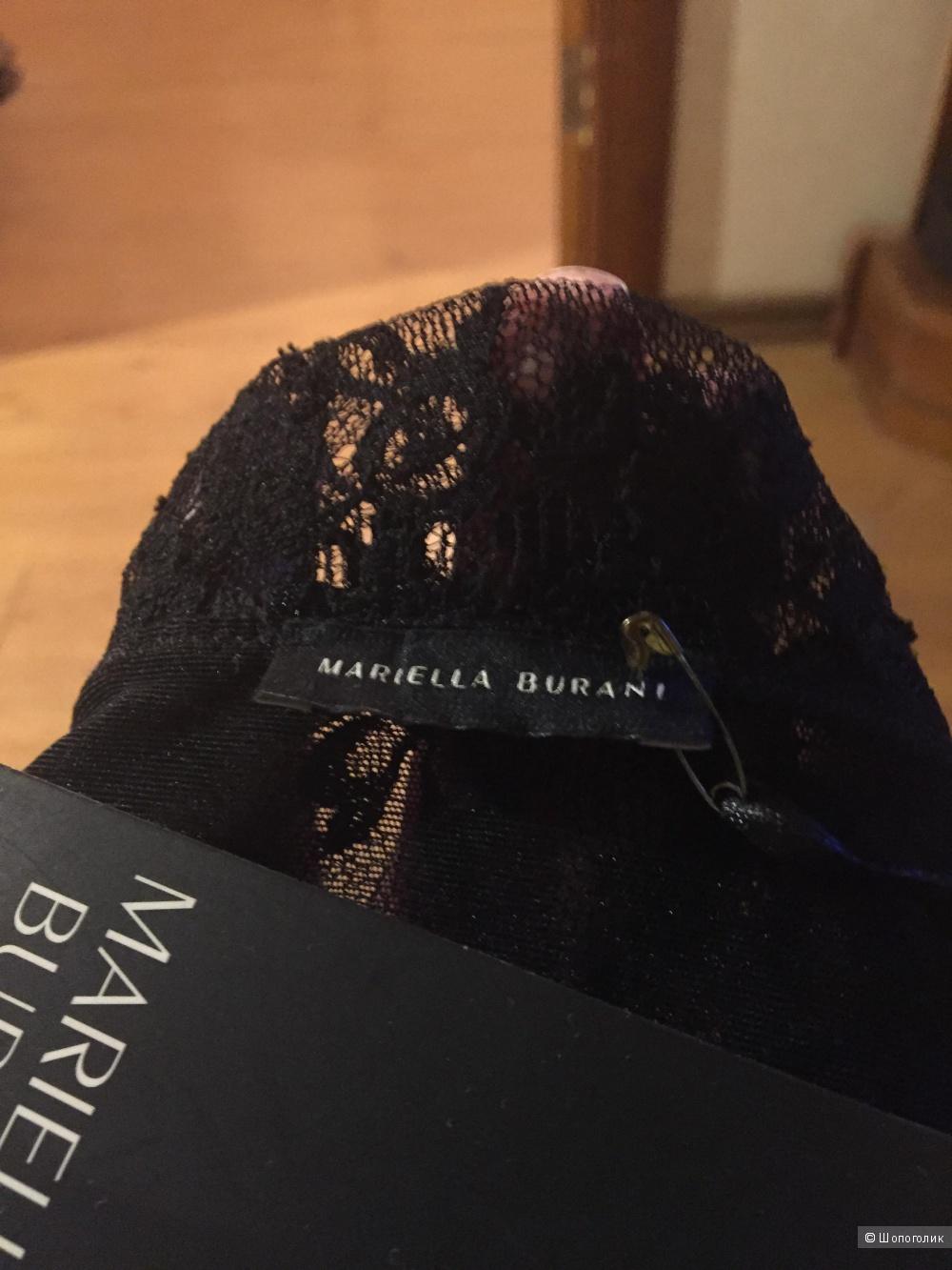 Черный  кружевной топ Mariella Burani 44IT