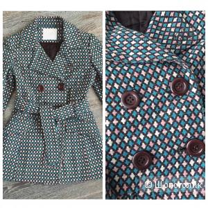 Утепленное пальто тренч размер М