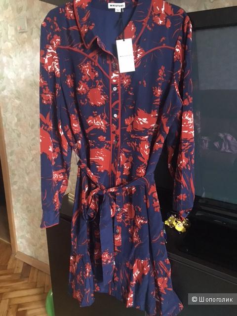 Новое шелковое платье Whistles, UK 16