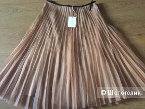Шелковая юбка-гофре из органзы Jucca 44IT