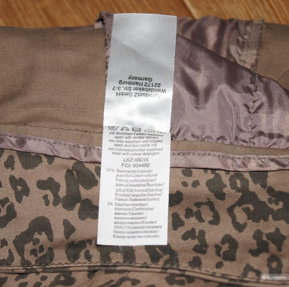 Брюки-чинос melrose с леопардовым принтом, р-р 44