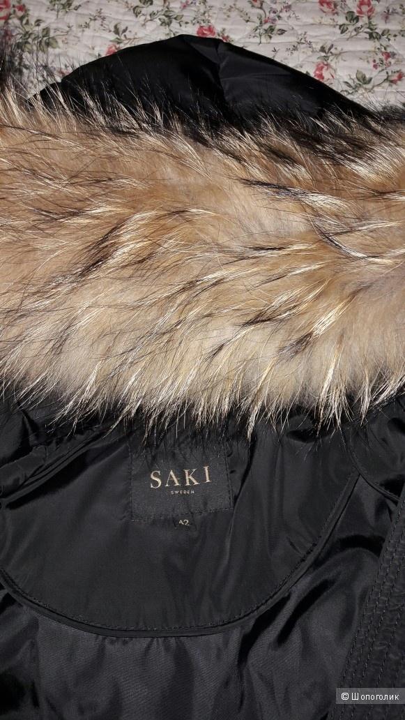 Шведский пуховик SAKI. 48 размер.