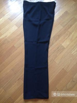 Базовые черные прямые брюки, новые, р.48-50
