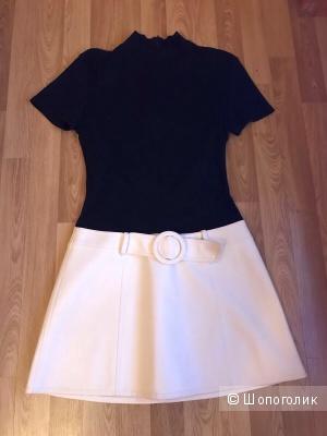 Платье для ценителей винтажной моды фирма LM LULU размер 38 ( 42-44)Франция оригинал б/у