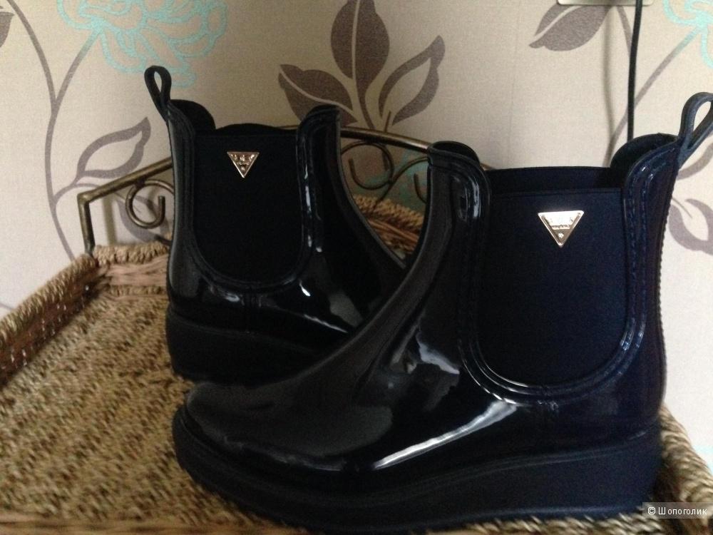 Новые стильные резиновые полусапожки ботинки 37размер   О6Milano Италия