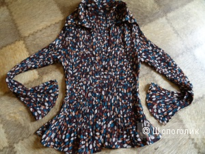 Блузка гофре, M&S, размер UK 14, б/у