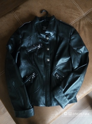 Новая кожаная куртка 44 размер