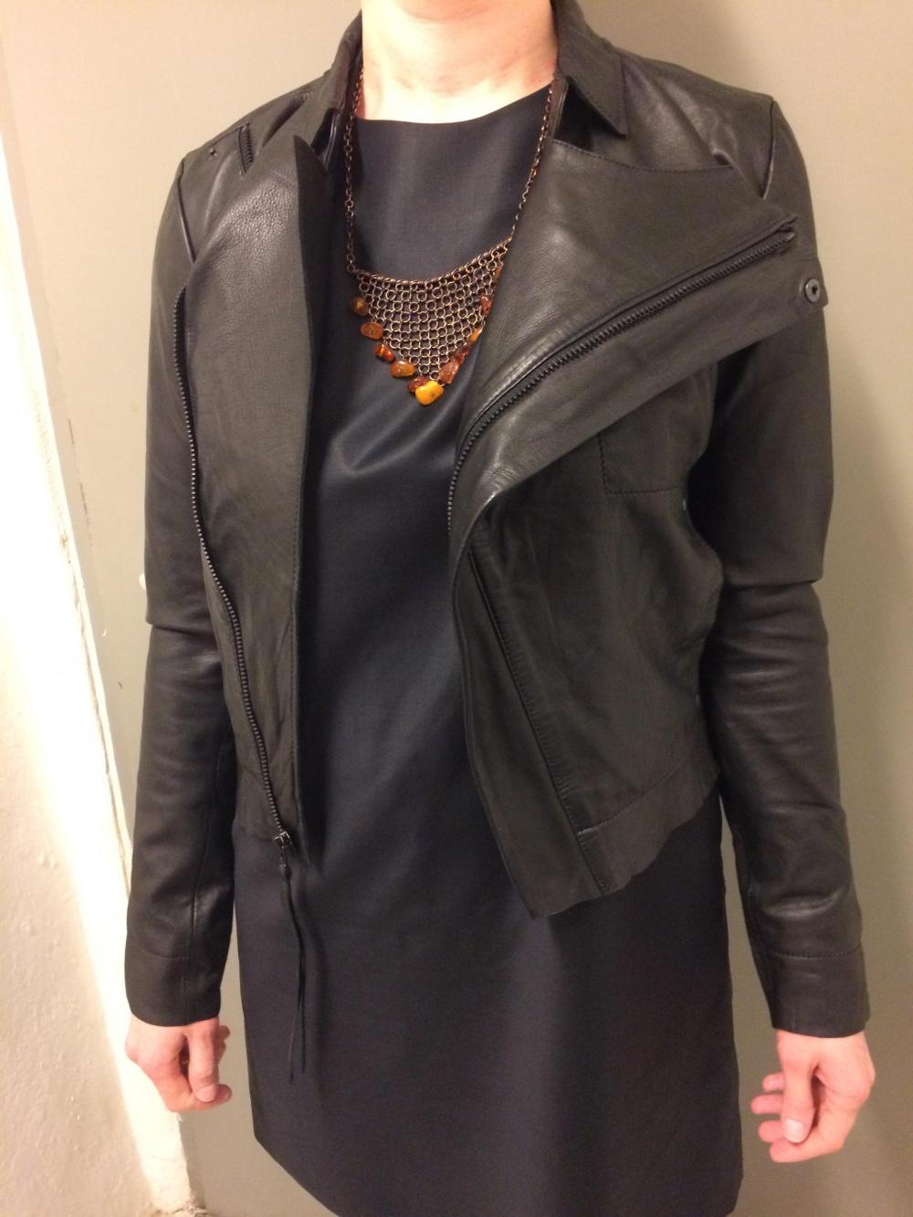 Новая кожаная куртка датского бренда  Barbara i Gongini, р-р 42-44