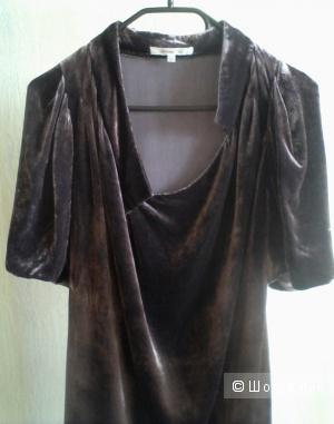 Платье из шелкового бархата Vanessa Bruno, размер S, М