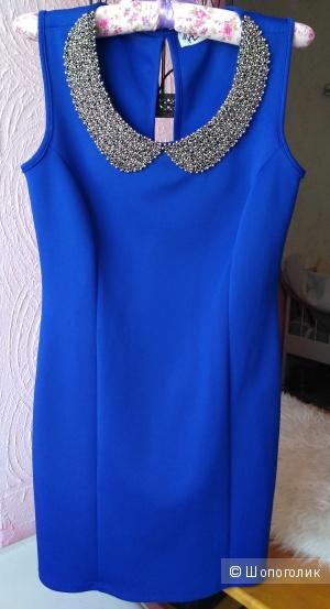 Платье производства Турции с красивым воротничком размер 46