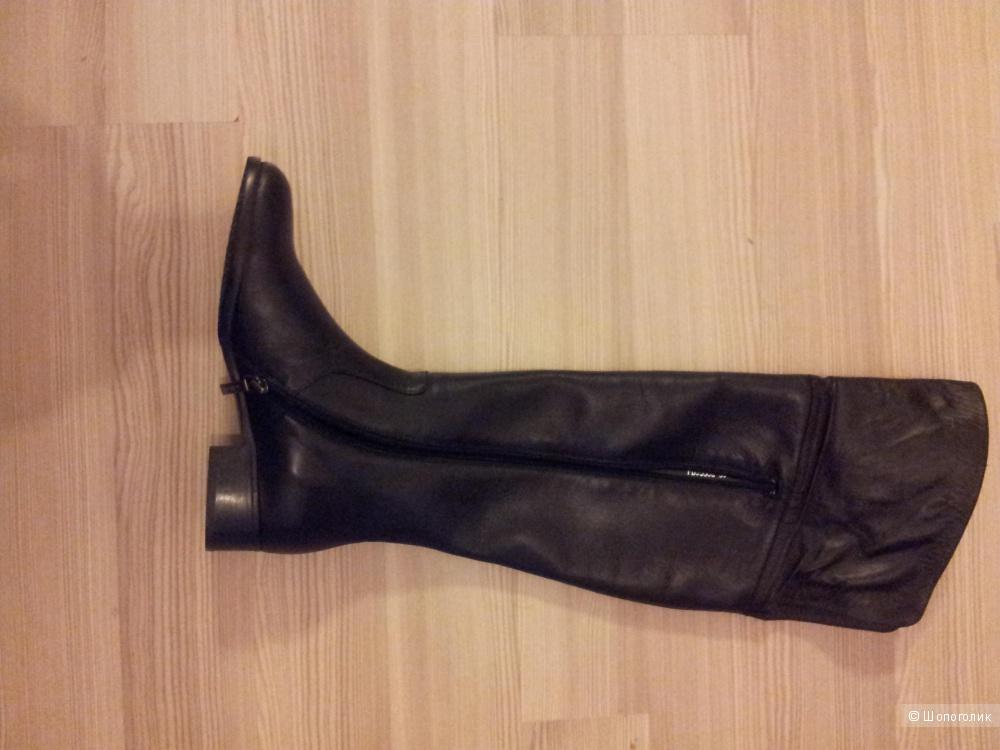 ННовые сапоги-ботфорты Santini, кожа наппы, 39 размер