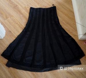 Атласная юбка-макси, размер 42