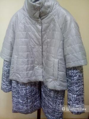 Куртка -пальто двойка LIZA-LU Италия размер 48-50