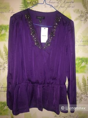 Блуза с баской Mango M