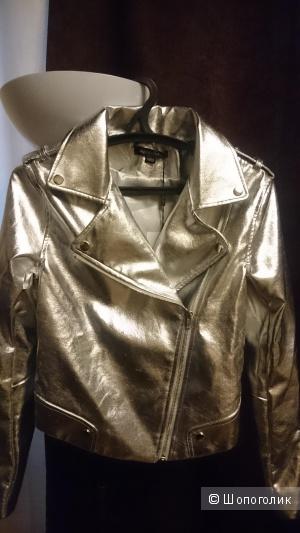Куртка-косуха серебристая р.s