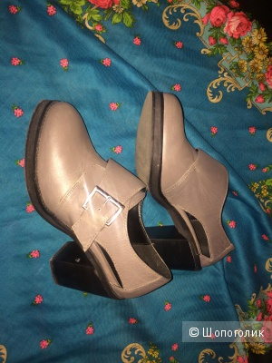 Asos perrie Leather Heeled Monk Shoes uk 5