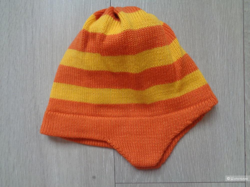 """Новый яркий вязаный комплект """"Жираф"""" от Kompot (шарф, варежки и шапка)"""