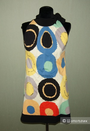Платье-туника с ярким принтом, р-р 44