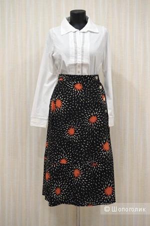 Шелковая юбка с хризантемами от Сони Рикель