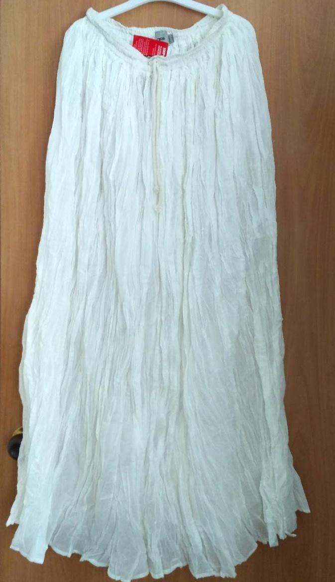 613e1ba29d6 Летняя белая макси юбка
