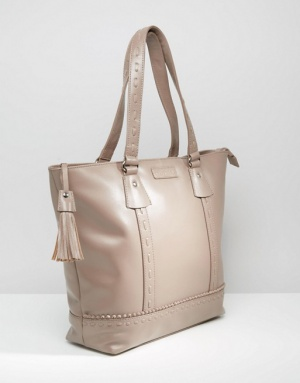 Новая кожаная сумка-шопер