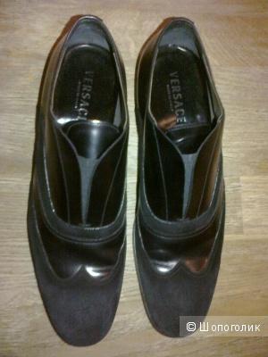 Туфли мужские черные замшевые Versace 43 размер