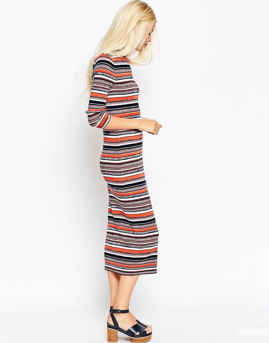 ceb4e091938 Трикотажное платье в полоску ASOS