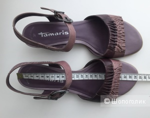 Босоножки натуральная кожа лиловый фиолетовый Tamaris